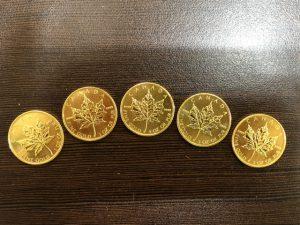 ネクストプラス昭島メイプルリーフ金貨(裏)買取
